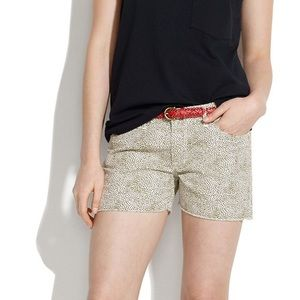 NWT MADEWELL Shorts with Dot Print